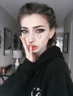 """[Lila] bi] I walk into prom and look around. I don't have a date so I look for people to hang out with."""" I feel someone tap my shoulder. I turn around, curiously Edgy Makeup, Cute Makeup, Skin Makeup, Makeup Inspo, Makeup Art, Makeup Inspiration, Beauty Makeup, Hair Beauty, Make Up Looks"""