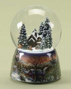 Log Cabin Snow globe