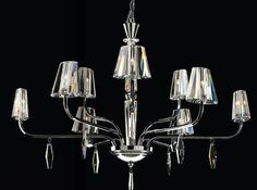 Contemporary crystal chandelier CRYSTAL MM Lampadari