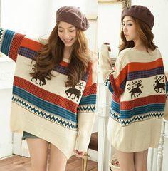 Cute color block sweater!