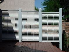 Outdoor Lattice Privacy Screens