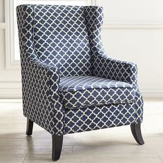 Small Accent Chairs For Living Room Home Design, Interior Design Trends, Küchen Design, Wicker Chairs, Upholstered Chairs, Wingback Chair, Dining Chairs, Blue Chairs, Wood Chairs