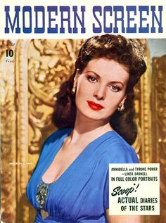 "Maureen O'Hara ~ ""Modern Screen"" magazine..."