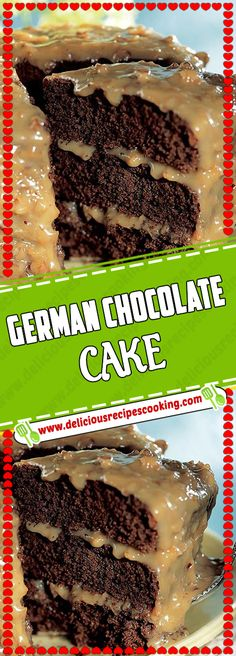 GERMAN CHOCOLATE CAKE Via #deliciousrecipescookingcom #desserttable #GERMAN #CHOCOLATE #cake #dessertrecipes Kids Cooking Recipes, Snack Recipes, Dessert Recipes, Desserts, Salad Recipes, Layer Cake Recipes, Layer Cakes, Cake Receipe, Pound Cakes