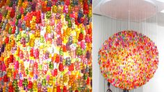 In the making of art with food, the Gummy Bears are in the place. This Light Chandelier by Jellio looks so yummy with his 5000… acrylic Gummy Bears. - Real ones will probably melt :)