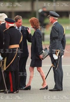 The Body of Princess Diana Arriving at RAF Northolt, London, Britain - Sep 1997 Prince Charles with Lady Sarah McCorquodale Sep 1997