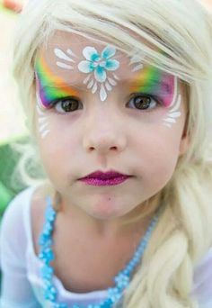 Beautiful yet simple face art! Princess Face Painting, Girl Face Painting, Painting For Kids, Body Painting, Easy Face Painting, Face Paintings, Face Painting Tutorials, Face Painting Designs, Paint Designs