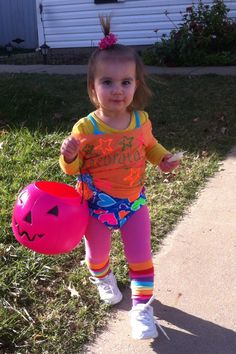 Toddler Halloween Outfit. 80's work out diva!