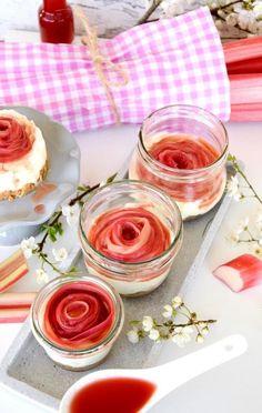 No Bake Rhabarber Cheesecake im Glas / Käsekuchen ohne Backen