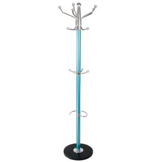 blue metal hat and coat clothes stand umbrella hall stands rack hanger marble