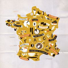 Bon Appetit! Culinary Map of France for SBS Food.