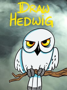 Draw Hedwig From Harry Potter - Deringa Harry Potter Disney, Harry Potter Gif, Harry Potter Drawings, Harry Potter Characters, Hedwig, How To Make Drawing, Drawing For Kids, Lego Creations Instructions, Lego Hogwarts