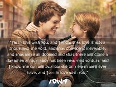 15 heartbreaking beautiful quotes from 10 quotes from the fault in our stars 10 quotes from the fault in our Divergent Funny, Divergent Quotes, Tfios, John Green Quotes, John Green Books, Romantic Movie Quotes, Romance Quotes, Quotes From Novels, Book Quotes