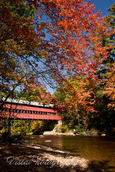 Swift River Covered Bridge across the Saco River, Conway Village, New Hampshire | Vista Photography