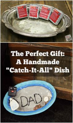 DIY gift idea...This easy catch-all dish is perfect for everyone on your gift list!