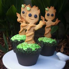 'We are Groot' #Groot #Cupcakes #Guardians of the Galaxy