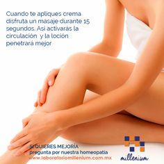 El calor la falta de ejercicio y el alto consumo de sal pueden hinchar tus piernas ayúdalas con masajes ascendentes.