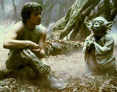 "Luke: ""I don't believe it."" /   Yoda: ""That is why you fail."""