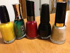 Race flag colors - or football team color basics #nailart