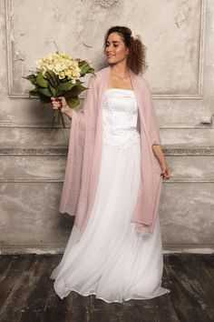Blush Pink Wedding Wrap Bridal Shawl Bridal Cover Up Bolero Bridal Shawl, Bridal Cape, Knitted Capelet, Bridesmaid Shawl, Bridal Cover Up, Wedding Wraps, Blush Pink Weddings, Pink Scarves, Ivory Wedding