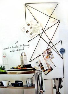 I'm loving this as a place in the kitchen for torn out recipes, towels, odds and ends.