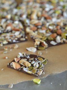 Salted Trail Mix Dark Chocolate Bark