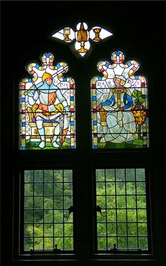 Stained Glass in Cardiff Castle, via Flickr.