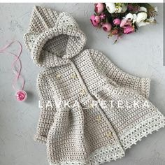 Awesome Benefiting From Beginners Crochet Ideas Crochet Bebe, Love Crochet, Crochet For Kids, Crochet Ideas, Newborn Crochet Patterns, Baby Patterns, Baby Coat, Modern Crochet, Kids Coats