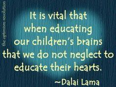 Dalai Lama on educating children