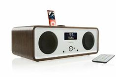 Sherlock's Vita Audio R2i - DAB / FM clock radio with iPhone / iPod cradle - walnut Visible in The Sign of Three
