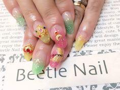 Nail Art - Beetle Nail : 八幡|セーラームーンネイル