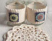 Crochet Cup Cozy, crochet tea coffee sleeve, creative mug cozy, lace coaster, Crochet Mug Cozy, gift for holidays, creative cozy