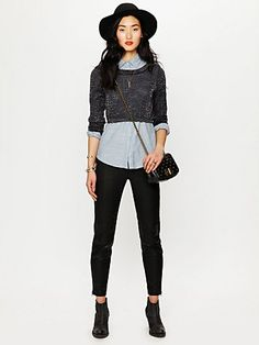crop sweater layering outfit