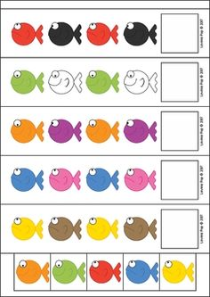 Pets Preschool and Kindergarten Centers. AB fish patterns.