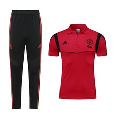 3d8c3619f46 Manchester United F.C. Football club The Red Devils Adidas 2019 Polo Shirt  and Pant Two Pieces Sets Casual TOPS TRACKSUIT Sweatshirt SOCCER FUSSBALL  Calcio ...