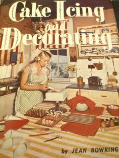 A different kind of talent back in the 40s and 50s...  I used to teach scratch baking and cake decorating. I remember how simple and elegant they were.