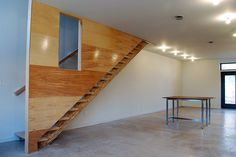 Passive House Stair Wall by postgreen, via Flickr