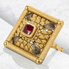 Gold Ring Designs, Gold Bangles Design, Gold Earrings Designs, Gold Wedding Jewelry, Gold Rings Jewelry, Antique Gold Rings, Antique Jewellery, Gold Ring Indian, Gold Bangles For Women