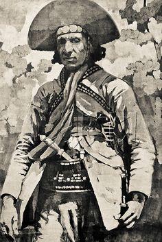 Desenho de Lampião Desenho produzido a partir de uma de suas últimas fotografias. Meados da década de 1930.