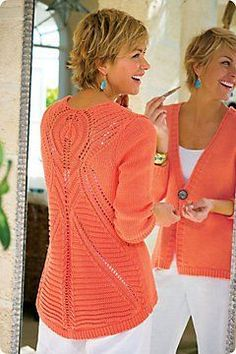 "Love this color, but my girls say I have too many ""holey"" sweaters!"