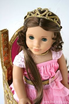 make a sparkly tiara for your AG doll's special occasion