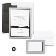 Silver Trim DIY Wedding Invitation Kit