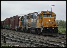 Southbound 514 gets put together at Kapuskasing on a very wet June 5th. #trainsincanada #trains #railroads #Ontario