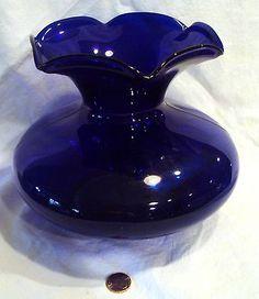 Vintage Cobalt Blue Glass Vase 6.5                                                                                                                                                                                 More