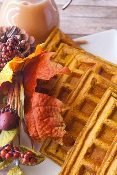 Enjoy those cool fall mornings with these Pumpkin Waffles! These easy, from scratch waffles are delicious drizzled with syrup or topped with whipped cream! Move over German Pancakes and French Toast!!! I love you both, but make room for these amazing Pumpkin Waffles!!!  Breakfast is my favorite meal so I am always up for trying … Pumpkin Waffles, Pumpkin Pie Spice, Pumpkin Puree, Cinnamon Syrup, Buttermilk Waffles, German Pancakes, Couple Cooking, How To Make Pumpkin, Egg Muffins