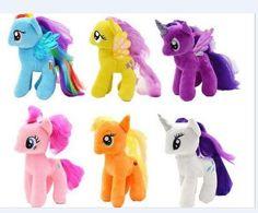New 18cm Cartoon my beautiful little Rainbow horse Soft Plush poni Animal dolls for Baby children Christmas Gift toys
