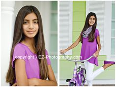 Tween Modeling headshots and comp card sessions in Melbourne, Florida. http;//www.EZ-Photography.com