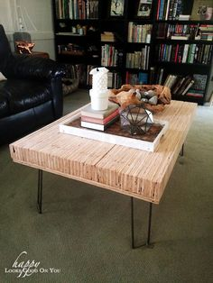 Stacked Plywood Coffee Table