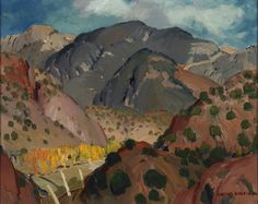 "Victor Higgins, Mountain Landscape, New Mexico, no date, oil on canvas , 16"" x 20-1/8"""