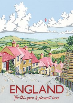 England by Kelly Hall - art print from King & McGaw